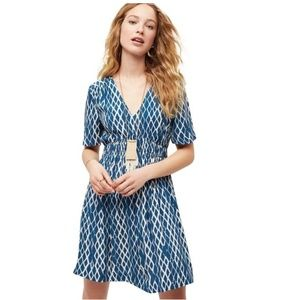 Anthro HD in Paris Archipelago Blue Ikat Dress